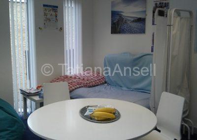 Комната для отдыха в офисе медсестры