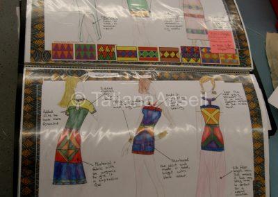Рабочий альбом ученицы, изучающей моду и текстиль