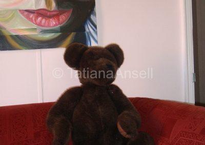 И общей комнате тоже плюшевый медведь