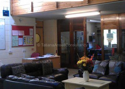Общая комната в общежитии для девочек