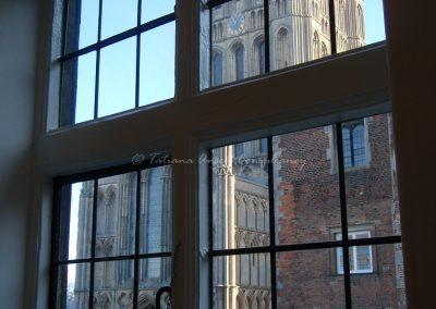 Вид из окна в здании для старшеклассников