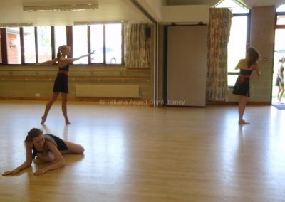 В танцевальной студии