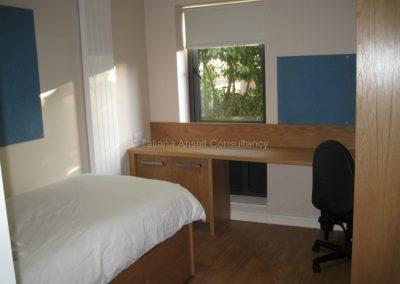 Комната в новом общежитии Campbell College