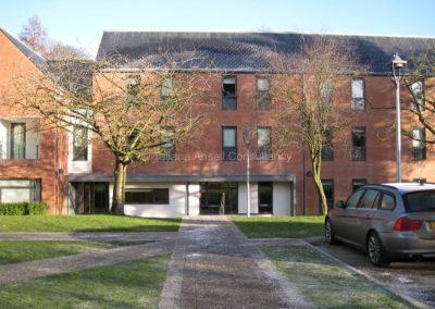 Здание нового общежития Campbell College