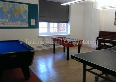 Игровая комната в общежитии мальчиков Epsom College
