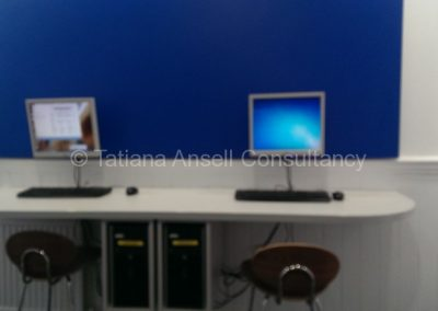 Компьютерная станция в общежитии мальчиков  Epsom College