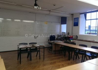В классной комнате школы Leys