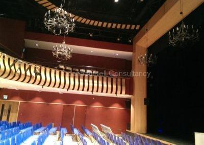 В театре школы Leys
