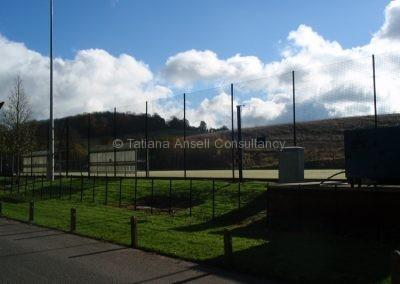 Спортивные площадки на территории Woldingham School