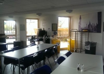 Кафетерий в общежитии Cherwell College