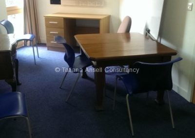 Комната для занятий в общежитии Cherwell College