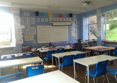 В классной комнате Dover College
