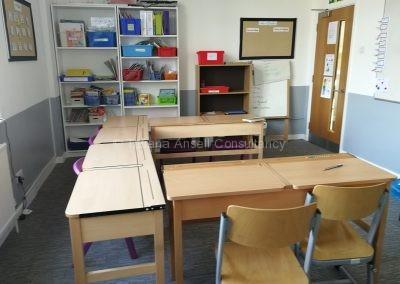 Классная комната в в начальной школе ICS