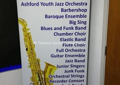 Реклама музыкальных занятий в Ashford School