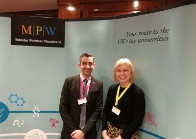 С представителем британского колледжа MPW