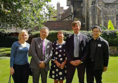 С директором британской школы Кингс Кентербери, его женой и коллегами из образовательных агенств
