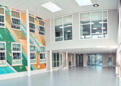 Атриум в здании для занятий в группах