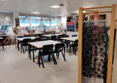 Зона занятий модой и текстилем в Worthing College